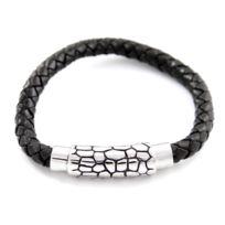 Metron Homme - Bracelet Homme synthétique Noir M H 435
