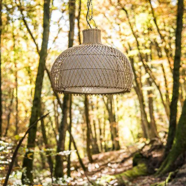 Wanda Collection Lampe suspension en osier 44 cm