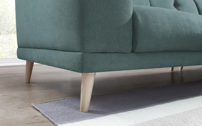 bobochic canape d 39 angle panoramique avec pouf luna bleu canard 246cm x 75cm x 246cm. Black Bedroom Furniture Sets. Home Design Ideas