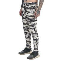 Project X - Bas de jogging camouflage Homme Paris 88174455, Taille: L, Couleur: Blanc