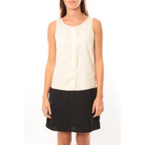 bd1bec55e6077 Vero moda - Neje sl Short Dress 10100937 Blanc Noir - pas cher Achat ...
