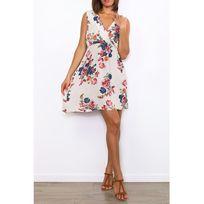 Cendriyon - Robes Beige Floral Lucky Nana