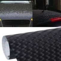 Wewoo - Film voiture noir 1.52m × 0.5m Paon Texture Emballage Auto Véhicule Changement Couleur Autocollant Rouleau Moto Decal Feuille Teinte Vinyle Air Bulle Libre