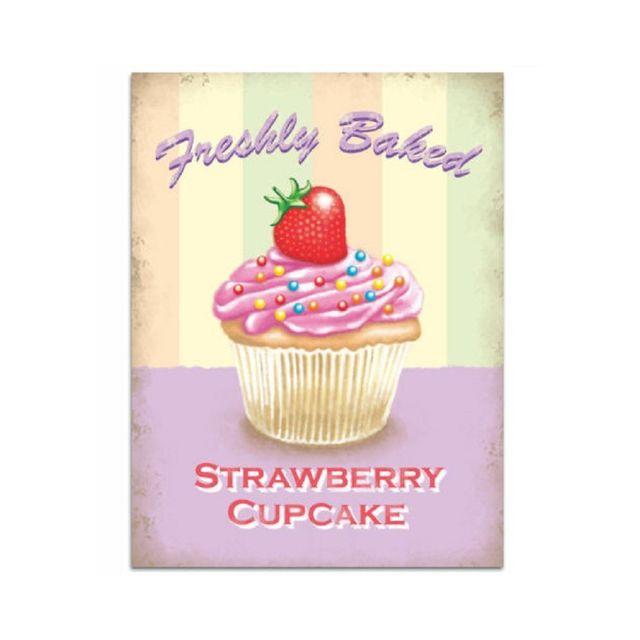Universel Plaque gateau strawberry cupcake aux fraises deco cuisine