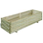 Rocambolesk - Superbe Jardinière en bois rectangulaire 120 x 40 x 30 cm Neuf