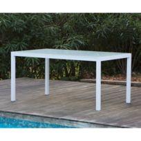 table jardin aluminium verre - Achat table jardin aluminium verre ...