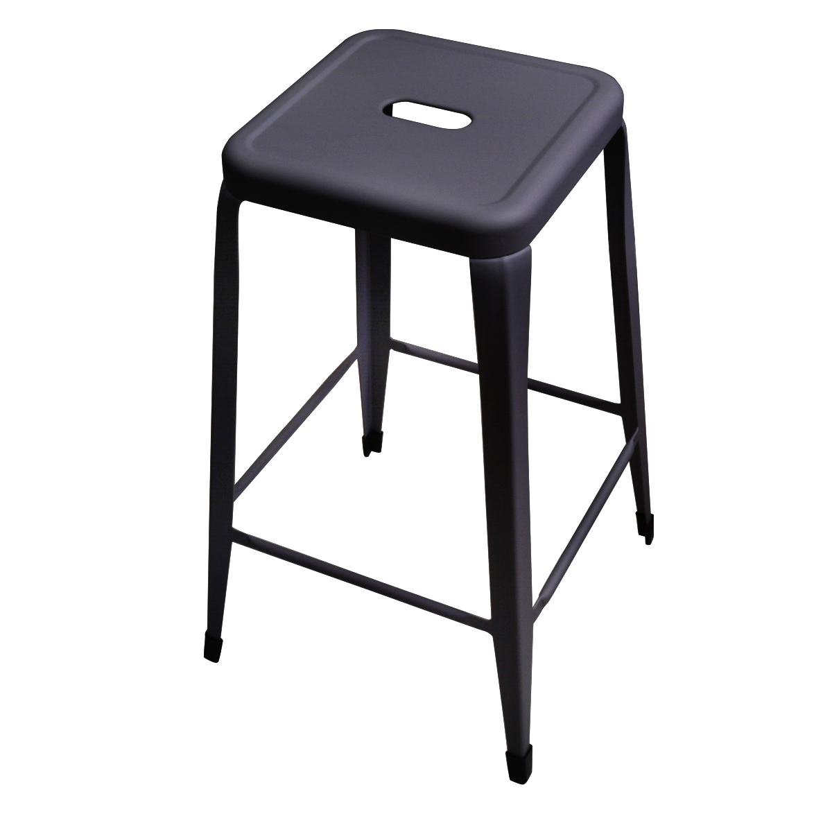 frandis tabouret de bar factory metal noir mat pas cher achat vente tabourets rueducommerce. Black Bedroom Furniture Sets. Home Design Ideas