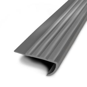 Favotex nez de marche pvc coller gris 1 7 m pas cher achat vente barre de seuil - Nez de marche pvc ...