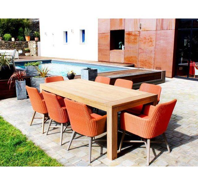 RESIDENCE - Salon de jardin EL PASO - Couleur - Orange - pas cher ...