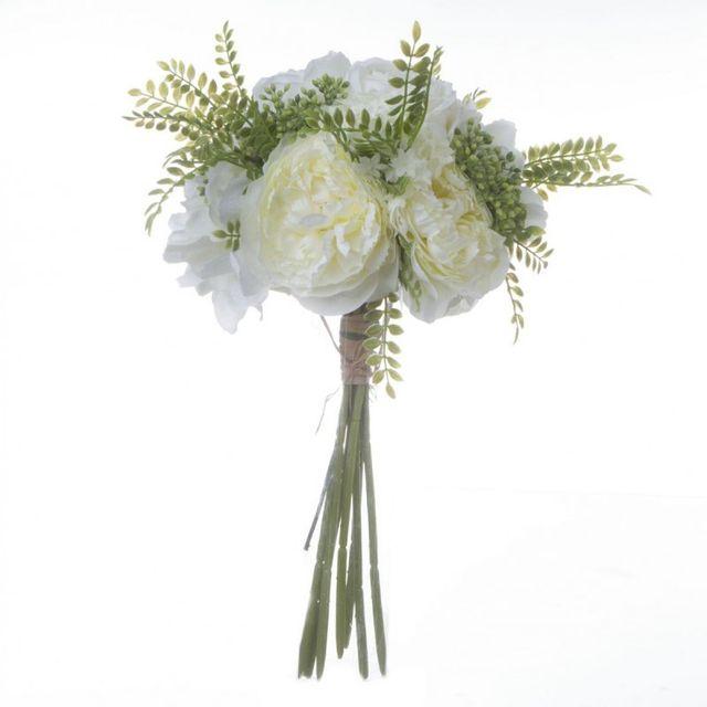 Bouquet de Fleurs 35cm Blanc