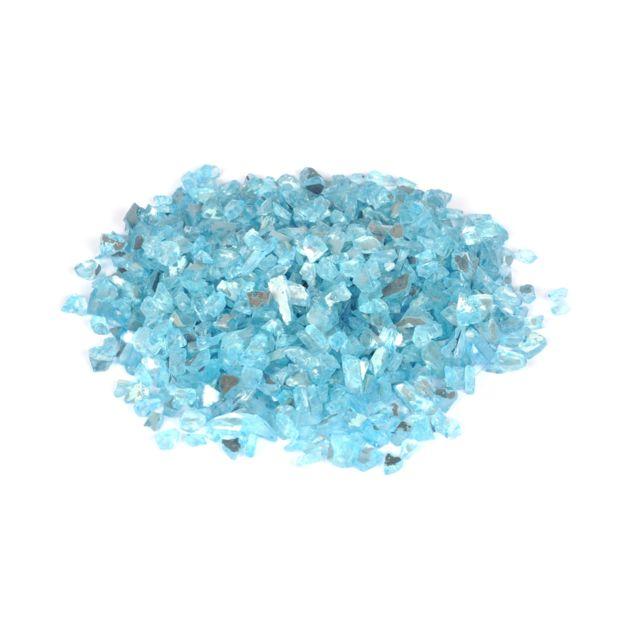 L3C Cdaffaires pépites de verre décoratives effet miroir - bleu - 250grs