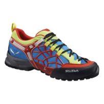Salewa - Chaussures Wildfire Pro rouge bleu vert