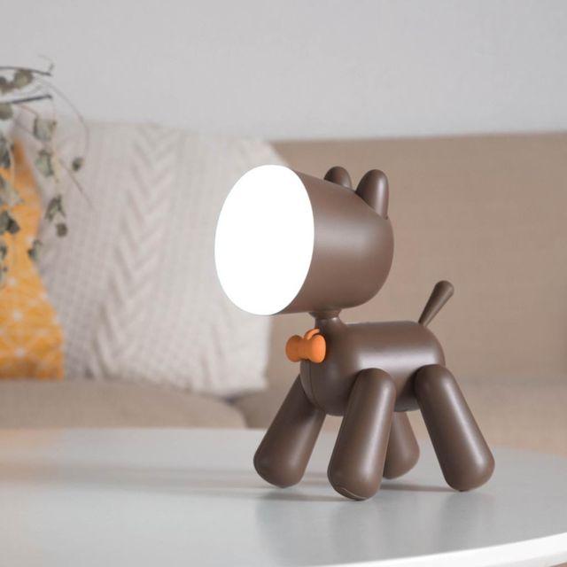 Lampe Led Usb facturable bureau Chien Lumière Puppy Forme Mignon Enfants lampe de nuit