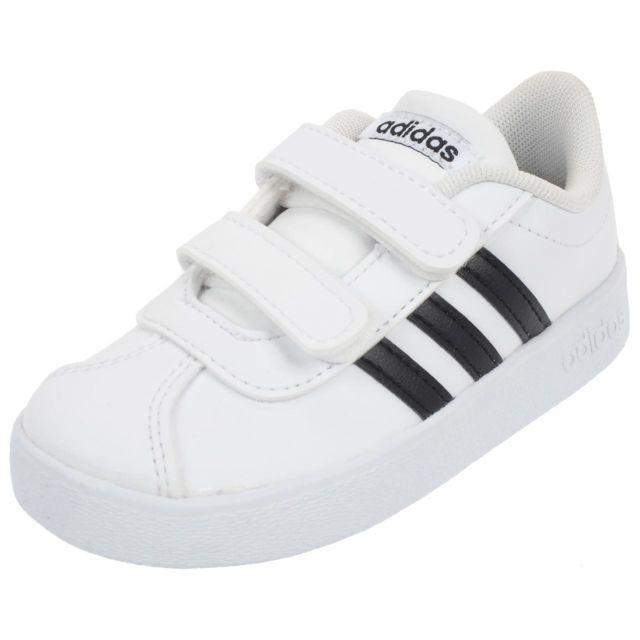 huge discount 9072d 9fcda Adidas - Chaussures scratch Vl court 2.0 cmf i traroy Blanc 76587 - pas  cher Achat  Vente Baskets enfant - RueDuCommerce