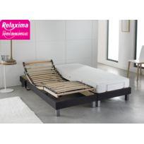 Relaxima - Ensemble Relaxation : Matelas Latex Dunlopillo sommier de relaxation 5 plans de couchage