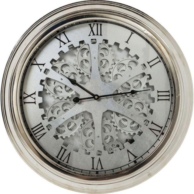 Karedesign horloge murale gear silver kare design gris x x pas cher - Verre pile piscine ...