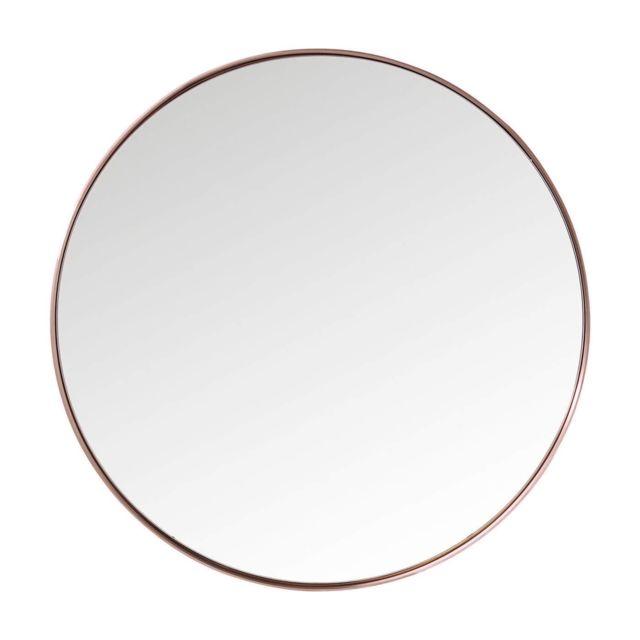 Karedesign Miroir Curve rond cuivre 100cm Kare Design