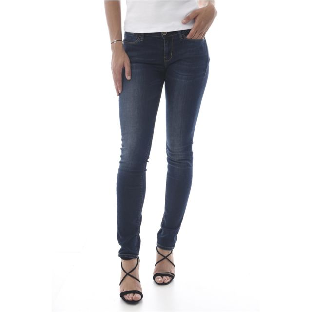 Pas Les W64a04 25 Cher Jeans Guess Jean Stretch Bleus Skinny 0wPknO