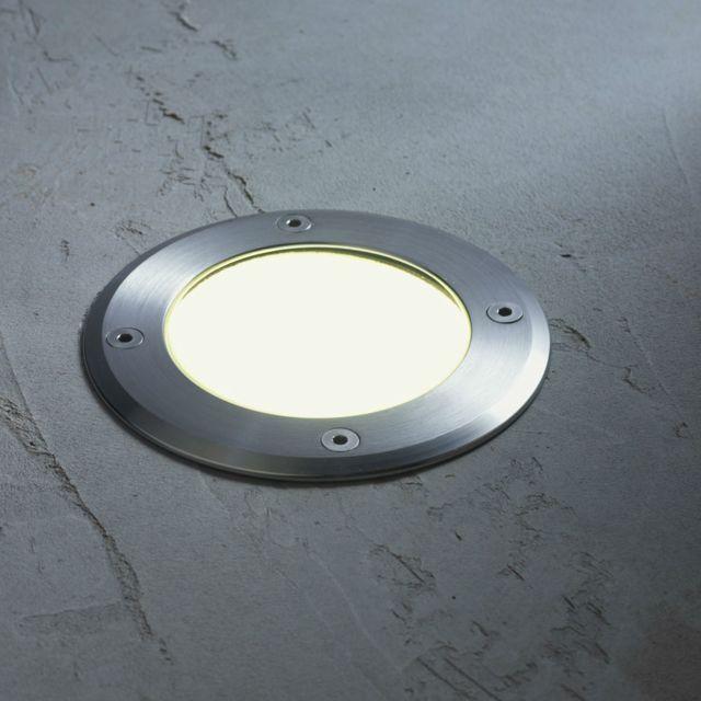 Inspire - Detroit - Spot d extérieur encastrable Led Aluminium Ø12cm -  Luminaire d extérieur designé par - pas cher Achat   Vente Applique, ... ed97dbd2a460