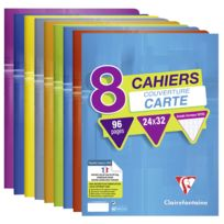 Lot de 8 cahiers - 24 x 32 cm - 96 pages