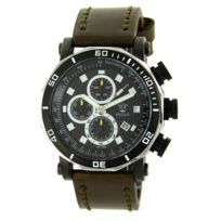 Rebirth Montre Homme - Montre Fun Homme Cuir Marron Rebirth 2067