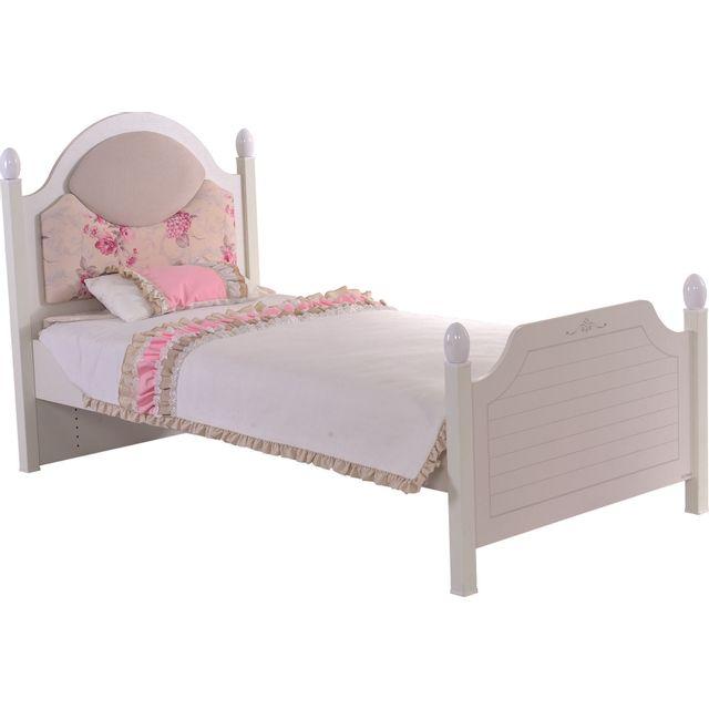 COMFORIUM - Lit enfant 120x200 cm moderne coloris blanc - pas cher ...