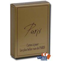 Poker Production - Jeu de 52 cartes : Les plus belles vues de Paris gold