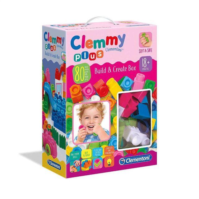 Clementoni 17258 - Clemmy Plus - Build and Create Box, Multicolore