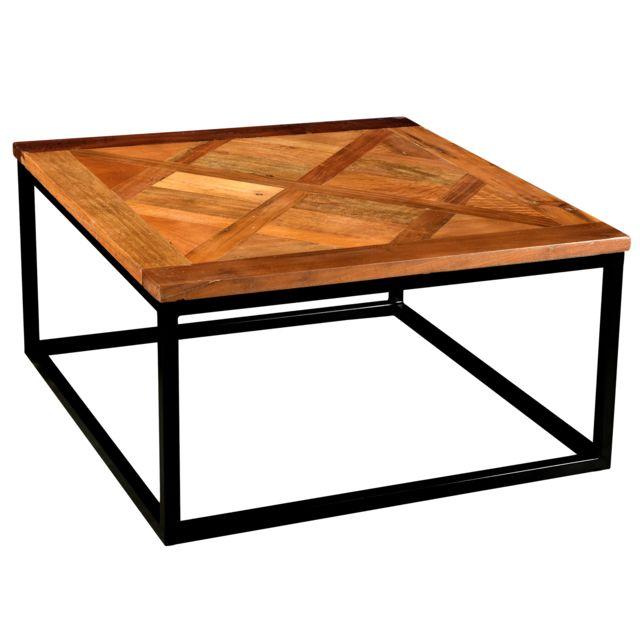 Rendez Vous Deco Table Basse Carree Sikar 80 Cm Pas Cher Achat