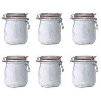 LE PARFAIT - lot de 6 bocaux en verre 750ml - 900506