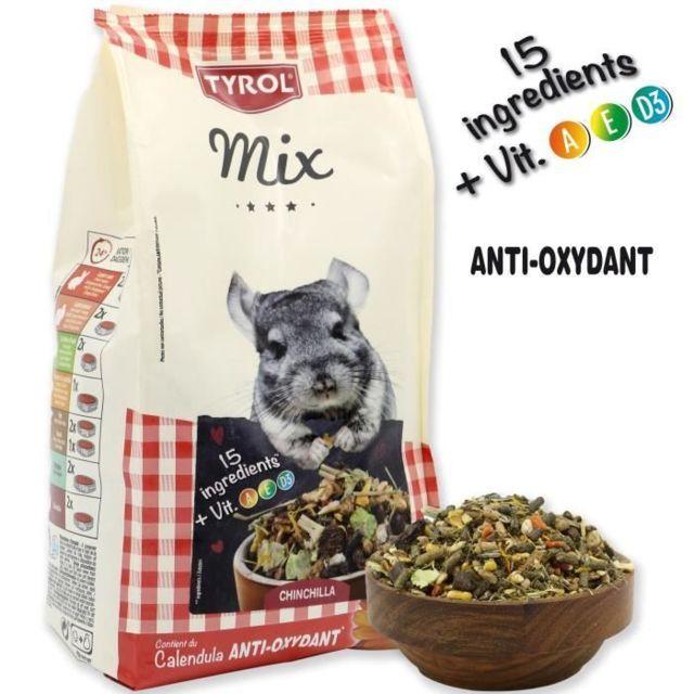 GRAINES Menu complet Premium Mix - Pour chinchilla - 750 g