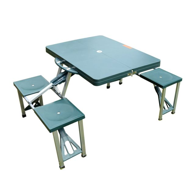 outsunny table de camping pique nique pliante portable 4. Black Bedroom Furniture Sets. Home Design Ideas
