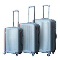 LEE COOPER - Set de 3 valises rigides LINE- ABS - Argent