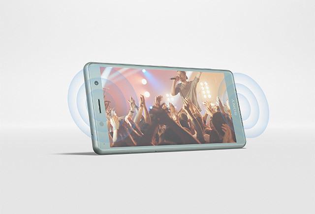 sony xz2 compact haut parleurs stereo