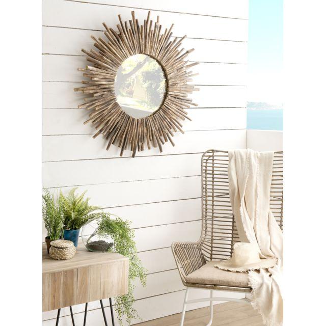 MACABANE Miroir rond soleil nature branches