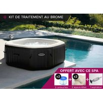 Intex - Spa gonflable PureSpa octogonal Bulles + Jets 6 pl + Kit Brome