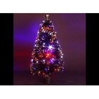JARDIDECO - Sapin de Noel artificiel noir lumineux multicolore - 90 cm