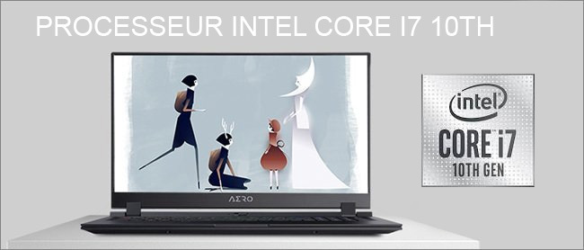 Aero - Processeur Intel Core i7 10th