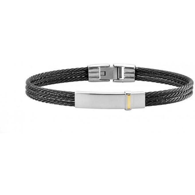 Promo Noh Bracelet Jourdan Fz Noir Acier Bijoux 148 srCoBQdthx