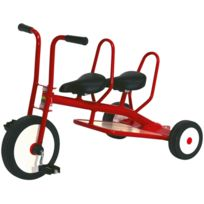 Italtrike - tricycle 3/6ans carry 2 places rouge