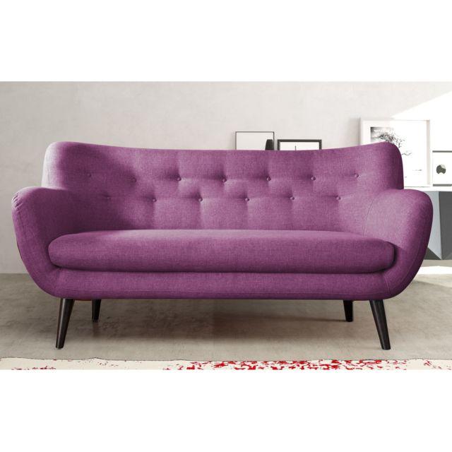 Canapé 3 places prune