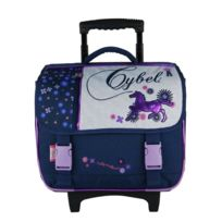 bagtrotter cartable a roulettes 38cm marine cybel cheval - Cartable Tortue Ninja