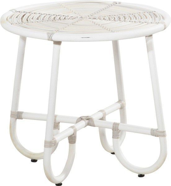 Comforium Table basse de jardin Ø 60cm coloris provance