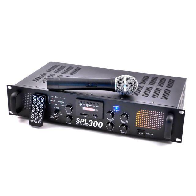 Skytec Spl 300VHF amplificateur sonorisation Usb Sd Mp3 sans fil 300W
