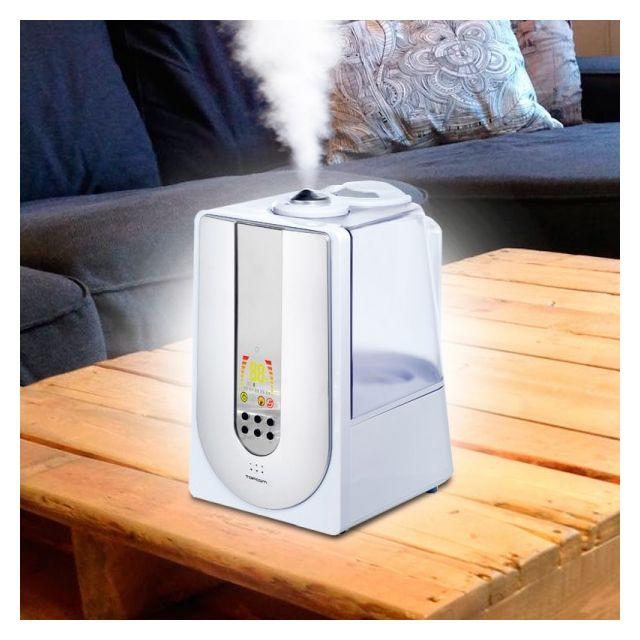 Totalcadeau Humidificateur ultrasonique à ioniseur intégré - Purificateur et nettoyant d air