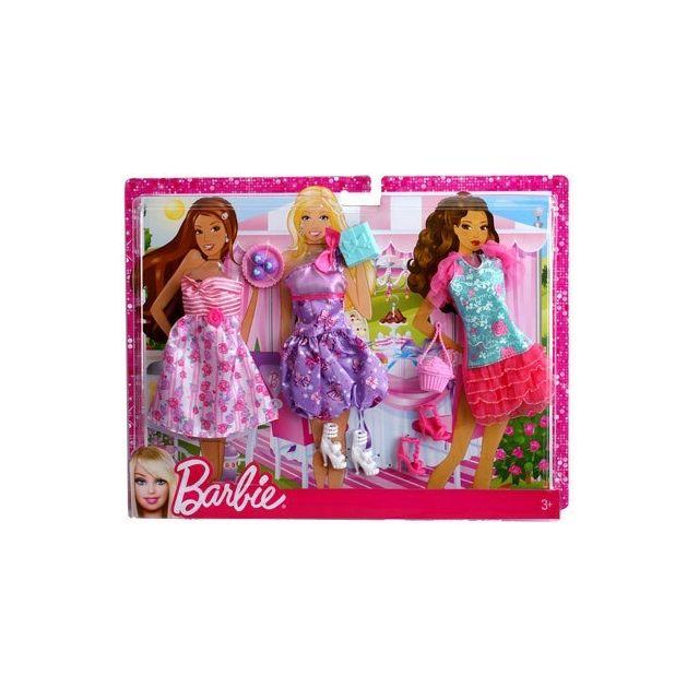 Barbie - Mattel Poupee - Tenues Soirees - Coffret De 3 Habits - pas ... e2a518b7abf5