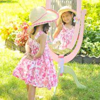 Miroir sur pied enfant Magic Garden en bois décor chambre fille bébé W-8968A