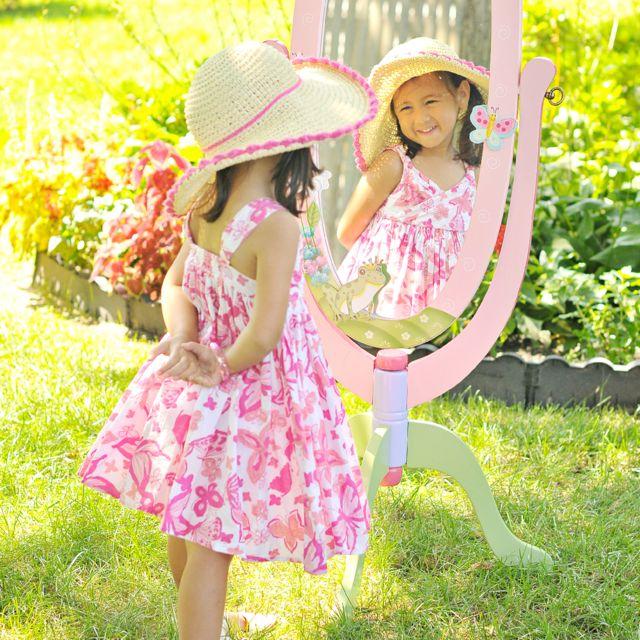 FANTASY FIELDS Miroir sur pied enfant Magic Garden en bois décor chambre fille bébé W-8968A