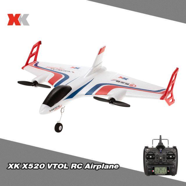 Generic Xk X520 2.4G 6CH 3D / 6G avion Vtol décollage vertical Terre Delta Wing Rc Drone avec le commutateur de mode