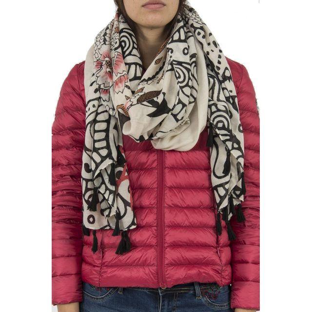 Desigual - Foulards 17wawfg4 ava beige - pas cher Achat   Vente Echarpes,  foulards - RueDuCommerce a4edf29c383